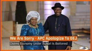 Nigeria News Today: APC Chieftain Apologises To Goodluck Jonathan (21/05/2018) width=