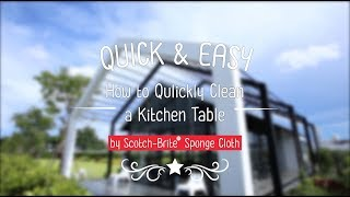 Quick & Easy : How to Qulickly Clean a Kitchen Table สำนักพิมพ์แม่บ้าน