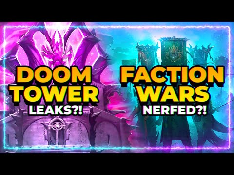 Faction Wars NERFED?! | DOOM Tower LEAKS?! | RAID Shadow Legends