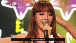 [Music Bank w/ Eng Lyrics] Hong Jin Young - Boogie Man (2013.04.20)