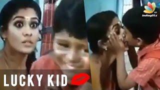 Nayanthara kiss on lips by School Boy   Thirunaal Movie Scene   Hot Tamil Cinema News width=