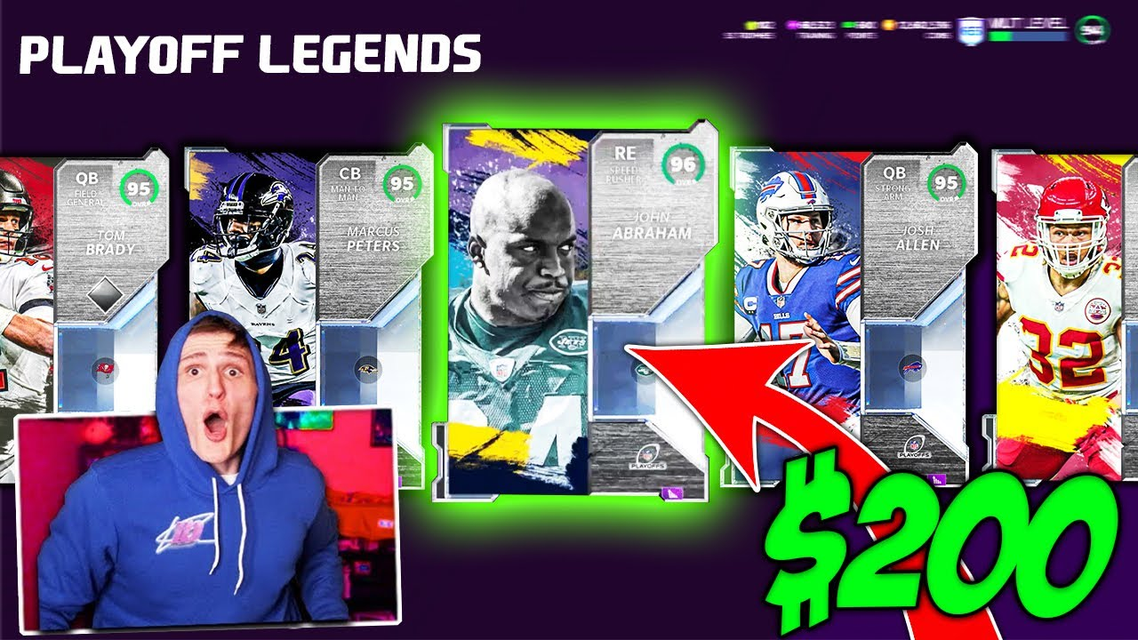IT'S DOM - *INSANE PULL* $200 Playoffs Legends Pack Opening... - Madden 21 Ultimate Team