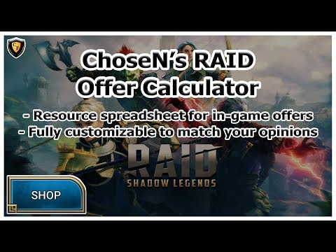 RAID Shadow Legends | Offer Calculator For In-Game Purchases