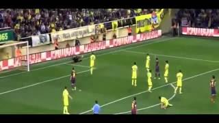 Dani Alves EATS BANANA thrown from public Villareal vs Barcelona FULL 2014