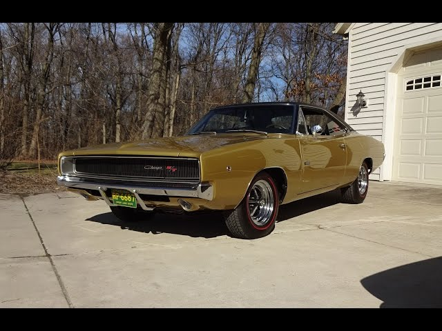 1968 Dodge Charger R/T in Medium Gold & 426 Hemi Engine Sound on My Car Story with Lou Costabile