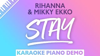 Stay - Rihanna (Piano Karaoke Version)