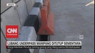 Penutup Gorong-Gorong Hilang, Lubang Underpass Mampang Jakarta Ditutup Sementara