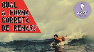 Qual a forma correta de remar?  (What is the correct way to paddle?)