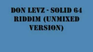 DON LEVELZ - SOLID 64 RIDDIM _