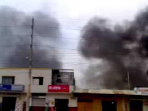 INCENDIO  EN GUAYAQUIL-DURAN    ECUADOR