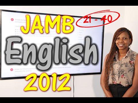 JAMB CBT English 2012 Past Questions 21 - 40