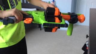 Nerf gun elite strike and zombie strike dominator