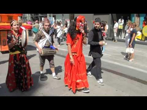 Lakhe dance performed by Prabin Sapkota in Lyon