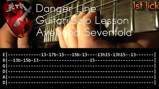 Danger Line Guitar Solo Lesson - Avenged Sevenfold (with tabs)