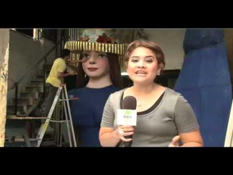 Viva Nicaragua Canal 13 presenta la gigantona más grande del mundo 2da parte