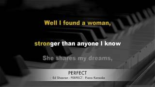 Ed Sheeran - Perfect - Karaoke lyrics PIANO HQ