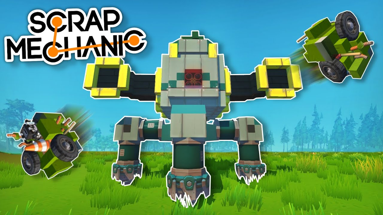 Moonbo - The Survival Trash Bot, Mandalorian Space Ships and MORE! - Scrap Mechanic Best Builds