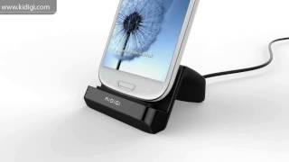 KiDiGI Universal Vertical USB Desktop Charger Dock Cradle for Samsung  LG Android smartphones