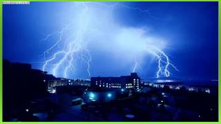 efeito sonoro de raio, trovão - sound effect of lightning, thunder - 雷の効果音、雷