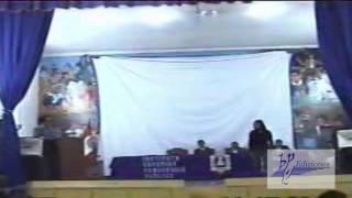 Declamación del poema:  Recuerdos de piedra de Eudes Cárdenas Martínez