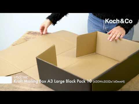 Kraft Mail Box Pk10 A4 Medium Tall Brown (310Wx225Dx140mmH)