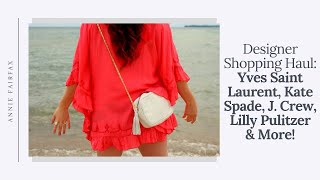 Thrift Shopping Haul: Kate Spade, J. Crew, YSL & Lilly Pulitzer!