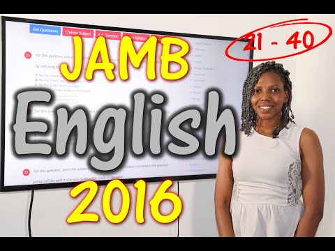 JAMB CBT English 2016 Past Questions 21 - 40