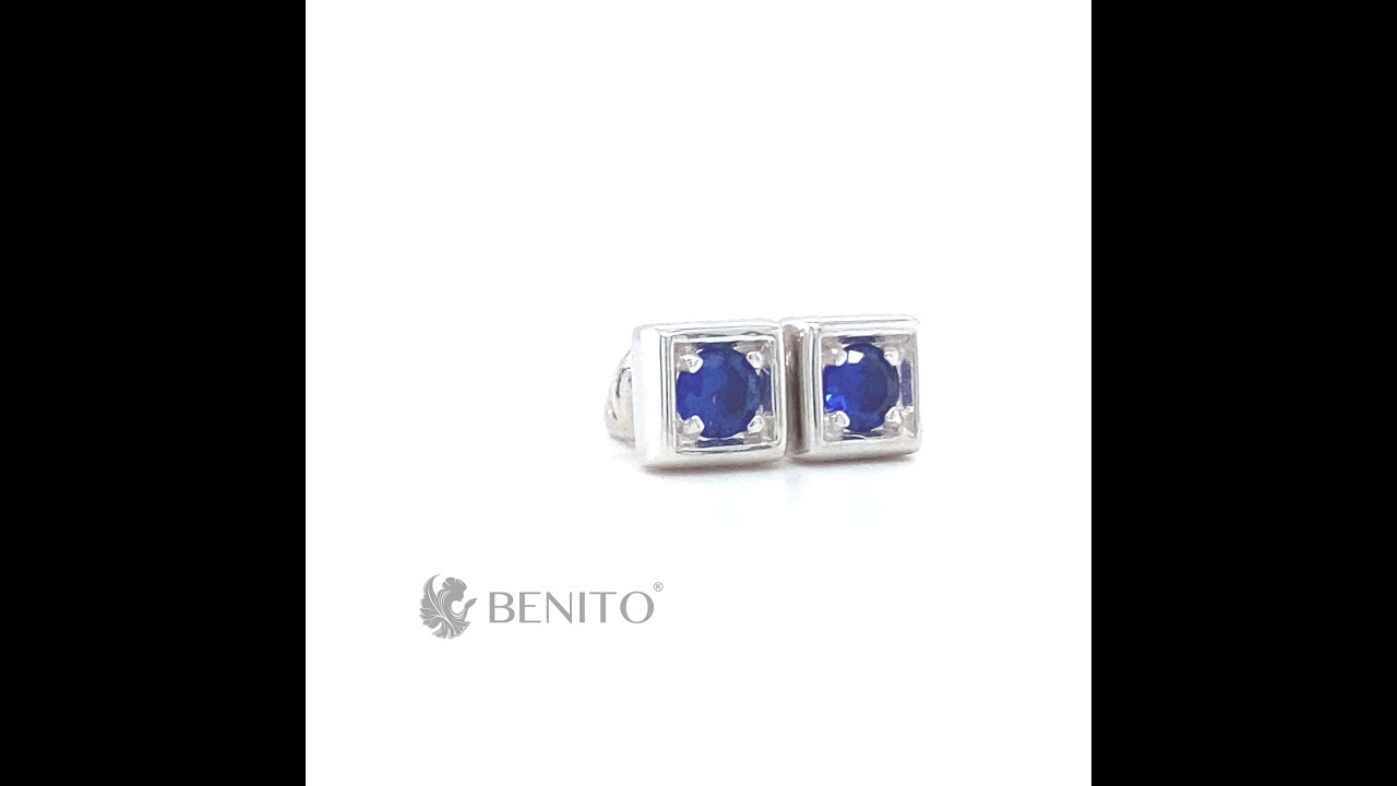 Tina Stud Earrings Blue Spinel Stone
