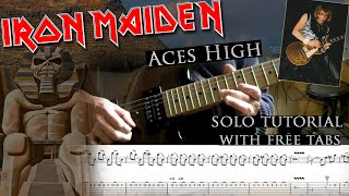 How to play Adrian Smith's solos #3 Aces High (with tablatures and backing tracks)