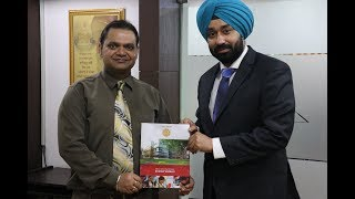 Representative from medicine hat college (alberta) - Mr. saurabh vashisht, medicine hat college, al with mr. bhavnoor singh bedi