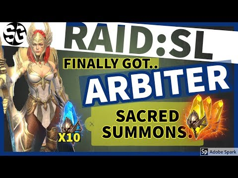 [RAID SHADOW LEGENDS] GOT ARBITER + SACRED SUMMONS