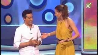 Eva González con Juan Valderrama- gala 4 juniors copla
