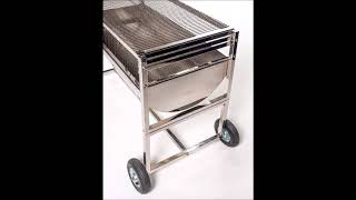Stainless Steel Drum Braai from Botany