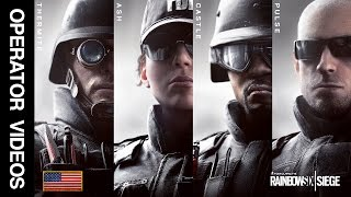Rainbow Six Siege - All 'FBI SWAT' Operator Videos - Thermite, Ash, Castle & Pulse!