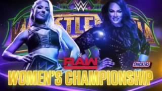 WWE Wrestlemania 34 Alexa Bliss vs Nia Jax Official Match Card