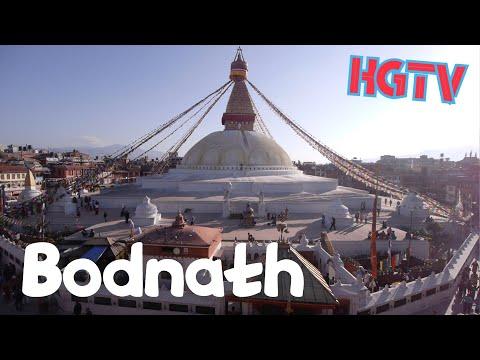 Kathmandu : Boudhanath (Bodhnath) in a minute,Nepal
