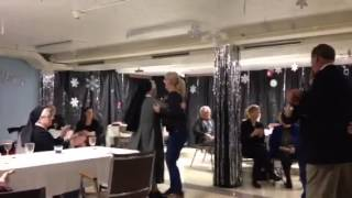 Sr. Angelica and Carol get their POLKA on at St. Monica's W