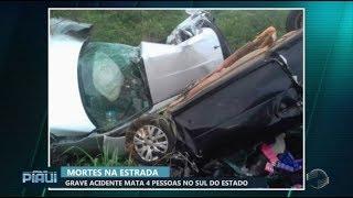 Acidente mata quatro pessoas no Sul do Piauí