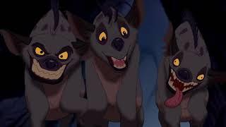 il re leone Mufasa salva Simba e Nala