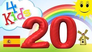 Aprender contar los números de 11 a 20 - para niños y bebés (español)