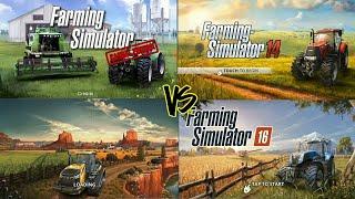FS18 vs FS16 vs FS14 vs FS game comparison