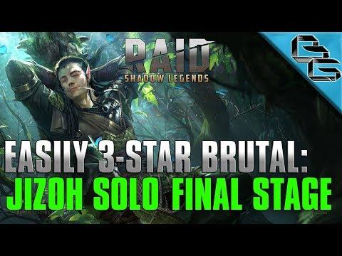 RAID: Shadow Legends | EASILY 3-STAR BRUTAL!! | Jizoh Solo Stage 12.7 | F2P
