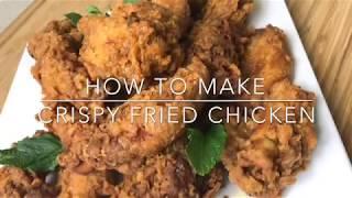 HOW TO MAKE CRISPY FRIED CHICKEN || TERRI-ANN'S KITCHEN