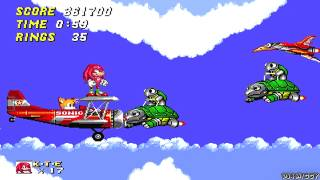 Knuckles in Sonic 2 - Sky Chase Zone