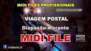 ♬ Midi file  - VIAGEM POSTAL - Diapasão-Marante