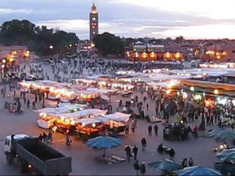 Jamaa el Fna Square in Marrakech, Morocco