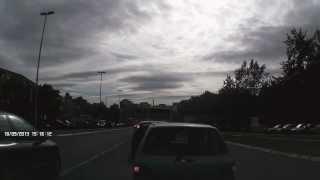 Obilaženje kolone preko pune linije, Beograd, 18.09.13