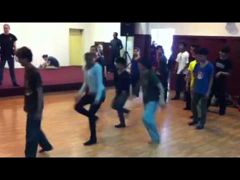 Spectrum Dance Theater lead a workshop to kids from Nepal Music Center