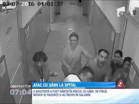 Atac cu săbii pe holurile Spitalului Județean din Târgoviște