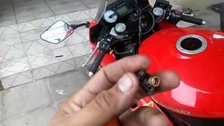 Buzina de motos...troca do botão